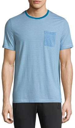 Michael Kors Striped Silk-Blend T-Shirt