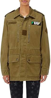 Saint Laurent Women's Patch-Appliquéd Gabardine Field Jacket