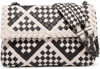 Bottega Veneta Olimpia Intrecciato Leather Shoulder Bag - White