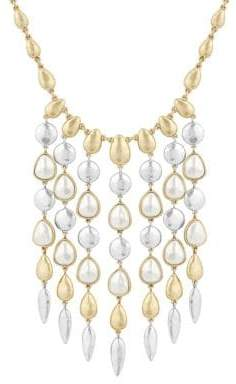 Lucky Brand Land and Sea Faux Pearl and Crystal Statement Necklace