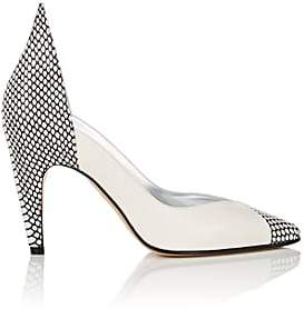 Givenchy Women's Stamped Leather Pumps - Wht.&blk.