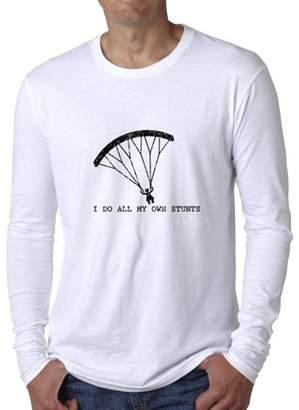 Hollywood Thread Skydiving I Do All My Own Stunts Parachute Men's Long Sleeve T-Shirt