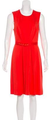 Trina Turk Pleated Sleeveless Dress