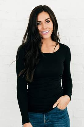 Everyday ShopRachel Parcell Basic Black Long Sleeve Tee