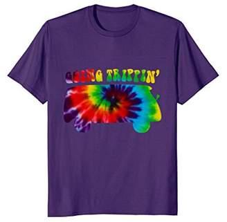 Going Trippin Tiedye Van Groovy Retro T-shirt