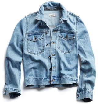 Todd Snyder Japanese Stretch Selvedge Denim Jacket in Dad Wash