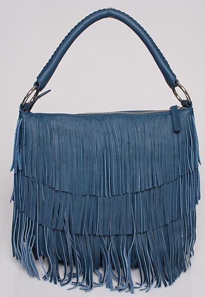 Fringe Bag in Blue/Grey