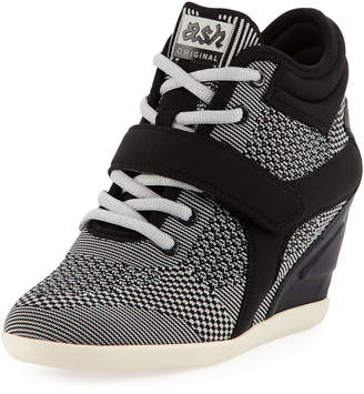 Ash Bebop Knit Lace-Up Wedge Sneakers