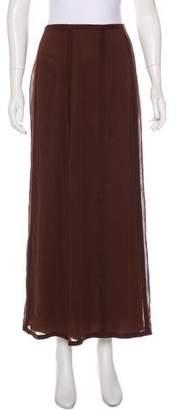Alberta Ferretti Silk Midi Skirt