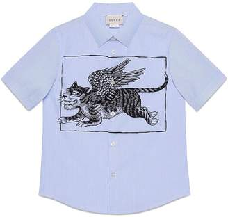 Gucci Kids Children's shirt with winged tiger print