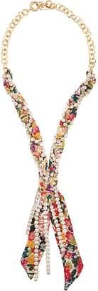 Etro embellished woven fabric necklace