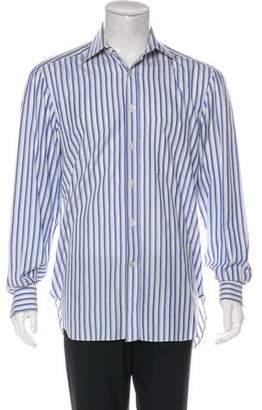 Kiton Striped Button-Up Shirt