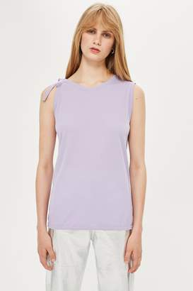 Topshop Womens **Tie Shoulder Tank Top By Lilac