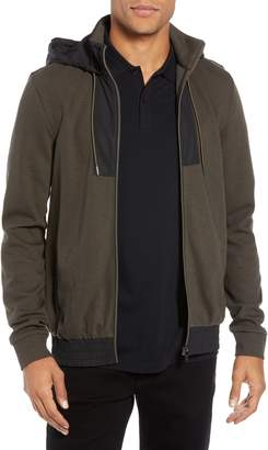 BOSS Sibly Slim Fit Hybrid Zip Hoodie