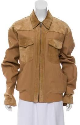 Gucci Oversize Suede-Paneled Jacket