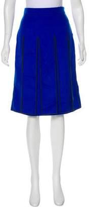 Kenzo Pleated Virgin Wool Skirt