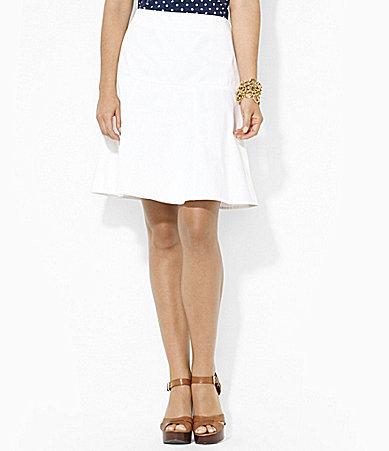 Lauren Ralph Lauren Twill Drop-Waist Skirt