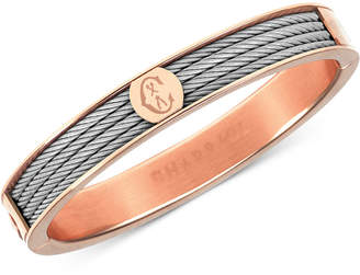 Charriol Two-Tone Bangle Bracelet in Stainless Steel and Rose Gold-Tone Pvd Stainless Steel