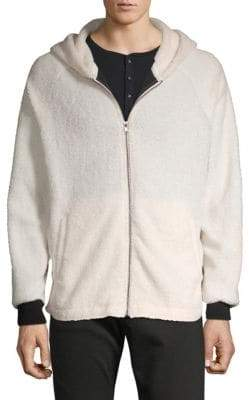 Raglan-Sleeve Faux Shearling Jacket
