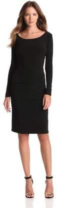 KAMALIKULTURE Women's Long-Sleeve Shirred-Waist Dress