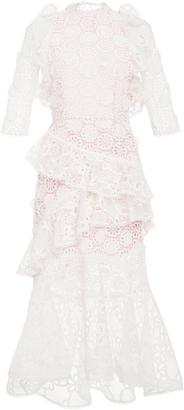 Mikaela Eyelet Long Dress
