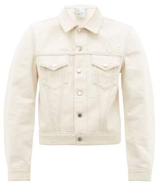 Helmut Lang Masc Trucker Logo Jean Jacket - Mens - White
