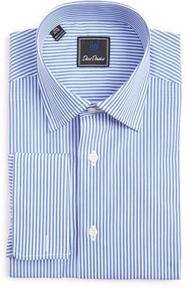 Men's David Donahue Regular Fit Stripe Dress Shirt $135 thestylecure.com