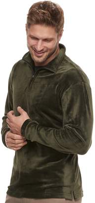 Haggar Men's Regular-Fit In-Motion Stretch Velour Quarter-Zip Pullover