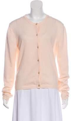 Bottega Veneta Long Sleeve Cashmere Cardigan