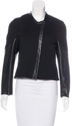 Helmut Lang Leather-Paneled Casual Jacket