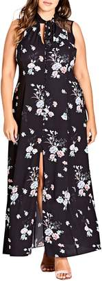 City Chic Lovely Blooms Maxi Dress