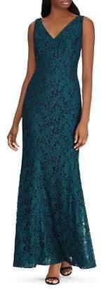 Ralph Lauren Fluted Lace Gown