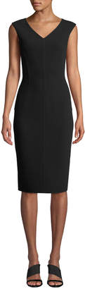 Michael Kors Cap-Sleeve V-Neck Sheath Dress