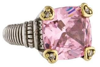 Judith Ripka Crystal & Diamond Cocktail Ring