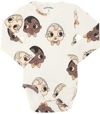 Mini Rodini Faces Organic Cotton Jersey Bodysuit