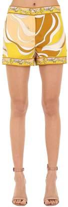 Emilio Pucci Silk Twill Printed Shorts