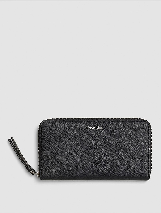Calvin Klein Faux Leather Large Zip Wallet