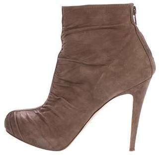 Brian Atwood Suede Platform Ankle Boots