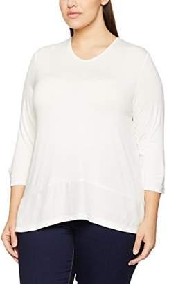 96adad04 Off-White Frapp Women's 2701101 Loose Fit V-Neck 3/4 Sleeve T