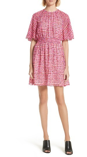 Women's Kate Spade New York Pinata Silk & Cotton Dress