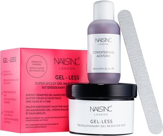 Nails Inc Gel-less Gel Nail Polish Remover Kit