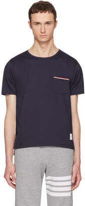 Thom Browne Navy Pocket T-Shirt