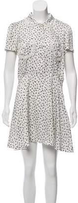 Chloe Sevigny for Opening Ceremony Floral Print Short Sleeve Dress