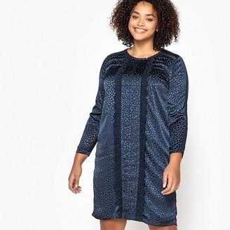 21dc510cf6 CASTALUNA PLUS SIZE Laced Jacquard Animal Print Dress