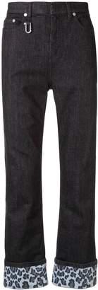 Neil Barrett cuffed regular fit jeans black/blue