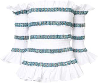 Caroline Constas Claudia elasticated blouse