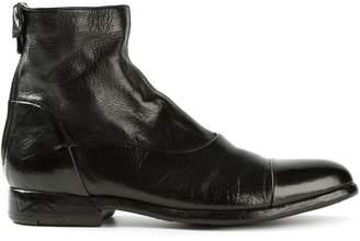 Alberto Fasciani back zip biker boots