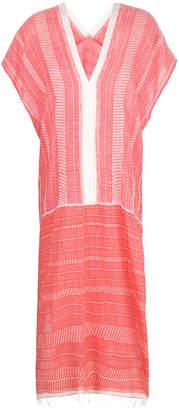 Lemlem contrast trim striped dress