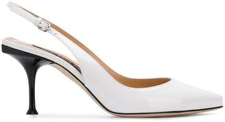 Sergio Rossi slingback pointed toe pumps