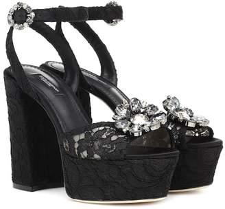 Dolce & Gabbana Keira lace plateau pumps